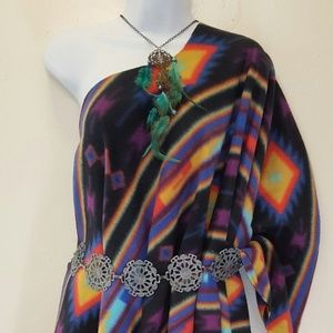 Wholesale Lot of 3 Tribal Ponchos & 1 Pony Duster